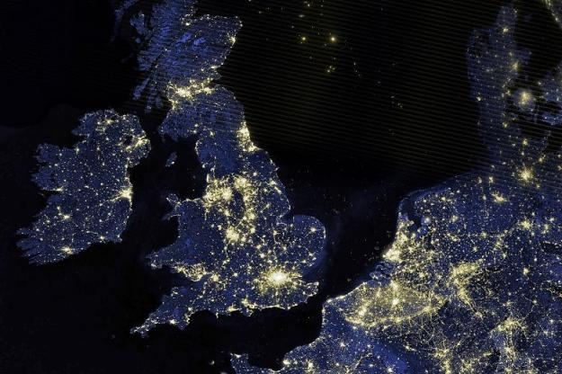 London & Europe from space. NASA/AP.