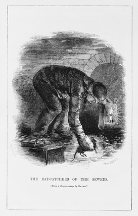 "Fig. 2. Henry Mayhew, ""The Rat-catchers of the Sewers."" Illus. in ""London Labour and the London Poor,"" 1861."