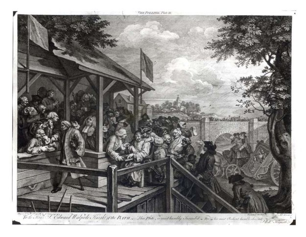 "William Hogarth, ""The Polling,"" 1754."