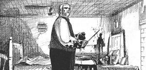 """Fig. 1. """"Sir William Gull.""""  Illus. in Alan Moore and Eddie Campbell, """"From Hell"""" (Marietta, GA: Top Shelf Productions, 2004). Web. http://www.tumblr.com/tagged/eddie%20campbell?before=77"""